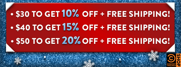 $30 TO GET 10% OFF + FREE SHIPPING! $40 TO GET 15% OFF + FREE   SHIPPING! $50 TO GET 20% OFF + FREE SHIPPING!