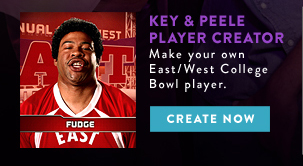 KEY & PEELE PLAYER CREATOR. Make your own East/West College Bowl Player
